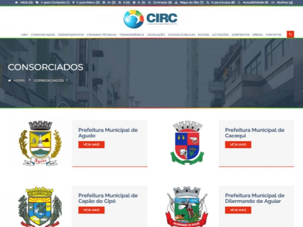 Novo website do Consórcio Intermunicipal da Região Centro está no ar