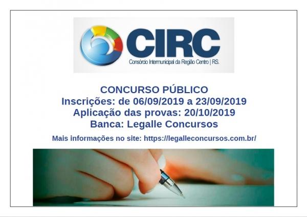 Concurso Público do Consórcio Intermunicipal da Região Centro – RS